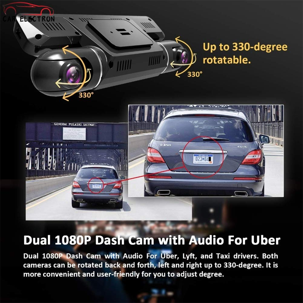 Amazon com : CAR ELECTRON Dash Cam with WiFi/Dual 1920x1080P Front
