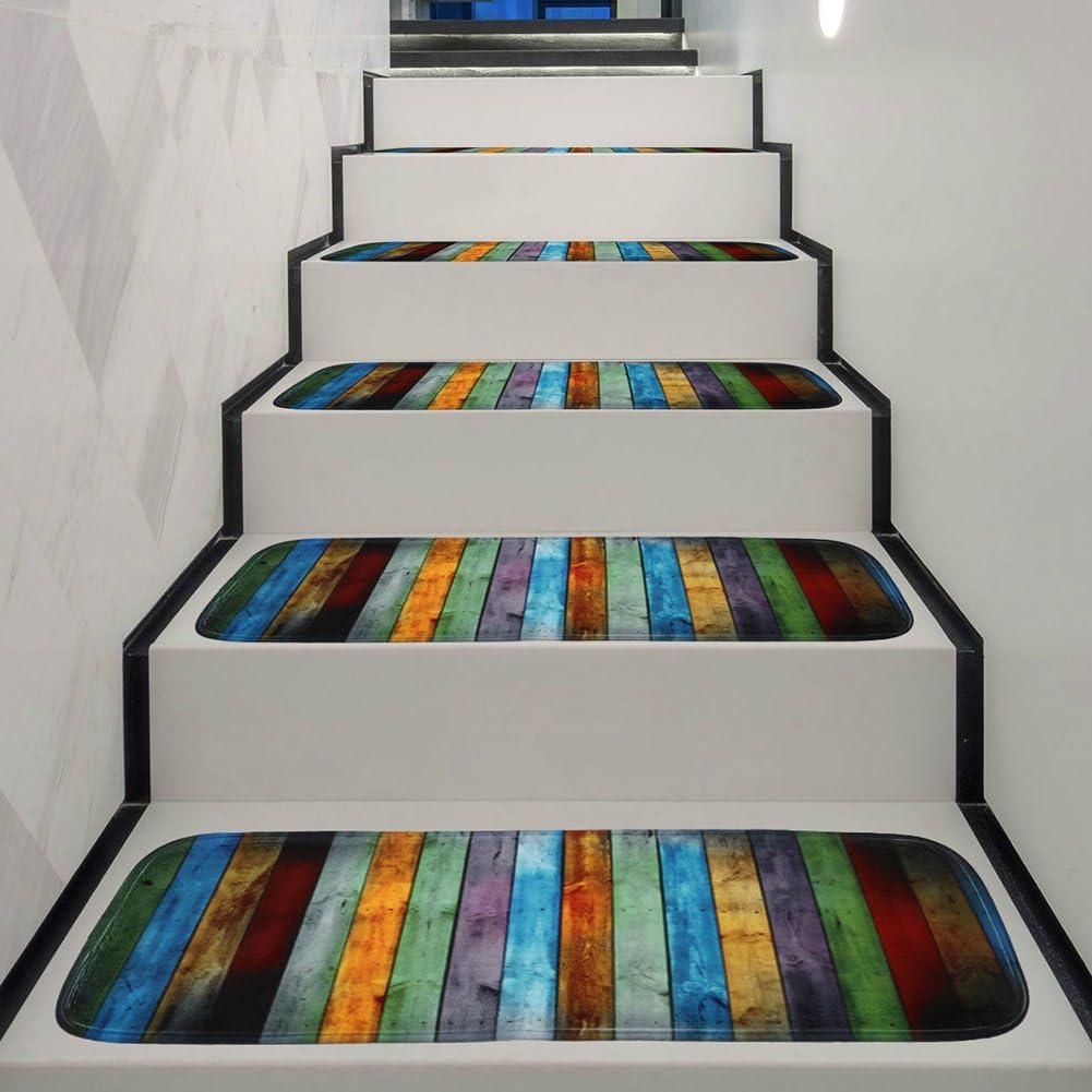 YHLVE 1 alfombra antideslizante lavable para escalera con parte trasera de goma antideslizante especializada para escalones de madera en interiores (70 x 22 x 1 cm): Amazon.es: Hogar