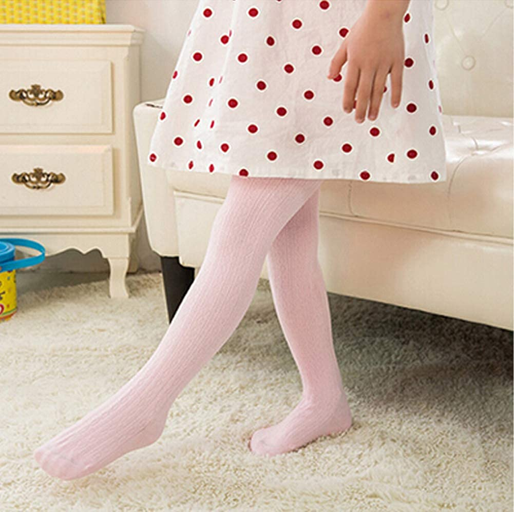 Baby Girls Cotton Stocking Tights Dancing Pants Cable Knitted Legging Pantyhose