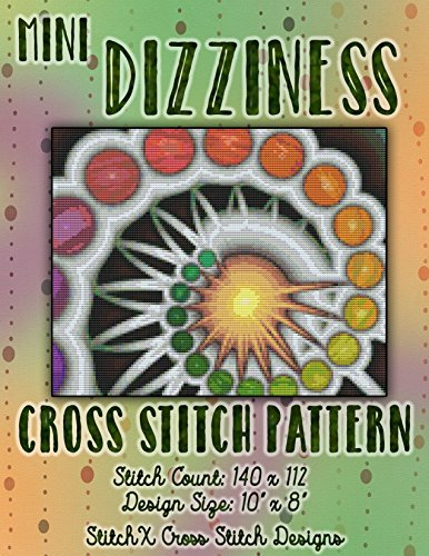 Stitch Pattern - Abstract Art Fractal Design - Beautiful Colors (Cross Stitch Hints)