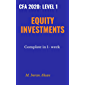 Equity Investments for CFA level 1: 2020: Complete Equity Investments on just 1 week (English Edition)