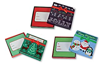 Amazon Com Christmas Gift Card Holder Box With Decorative Ribbon
