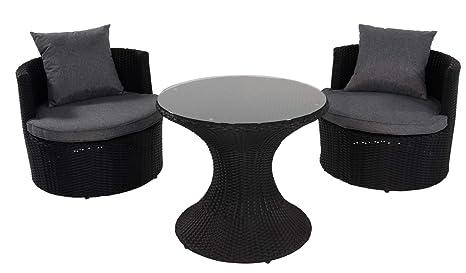 LLiving - Juego de Muebles de jardín (3 Piezas, 2 sillones ...