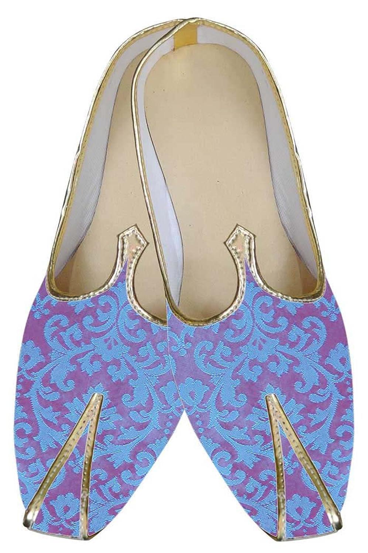 INMONARCH Azul Hombres Novio Zapatos de Boda MJ0110 44.5 EU