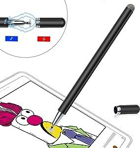 Stylus Pen LIBERRWAY Disc Stylus Fiber Stylus, Black