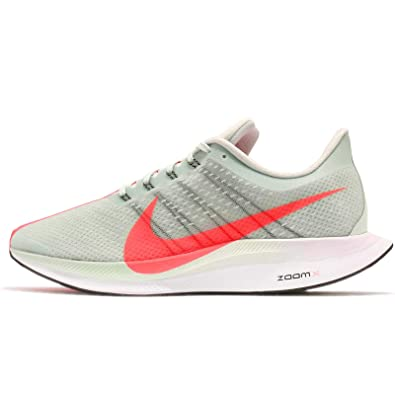 NIKE Mens Zoom Pegasus 35 Turbo, Barely Grey/HOT Punch-Black, 8