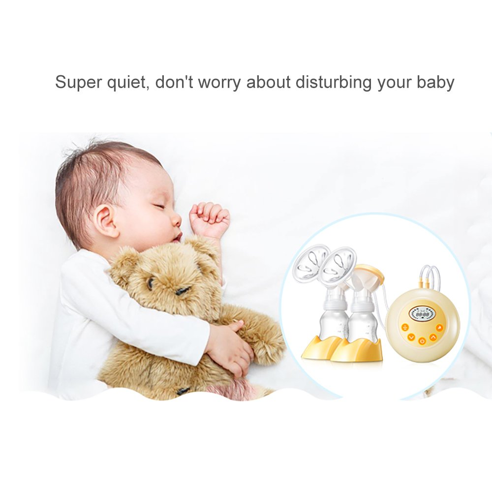 IREALIST Double Electric Breast Pump Automatic Double//Single Breastfeeding Pump FDA Approved 9 Suction Level Settings Milk Pump Breast Massager