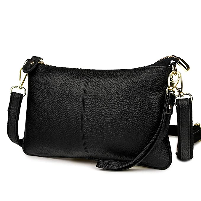 2770f81b6e Amazon.com  Mynos Women Leather Crossbody Bag Purse