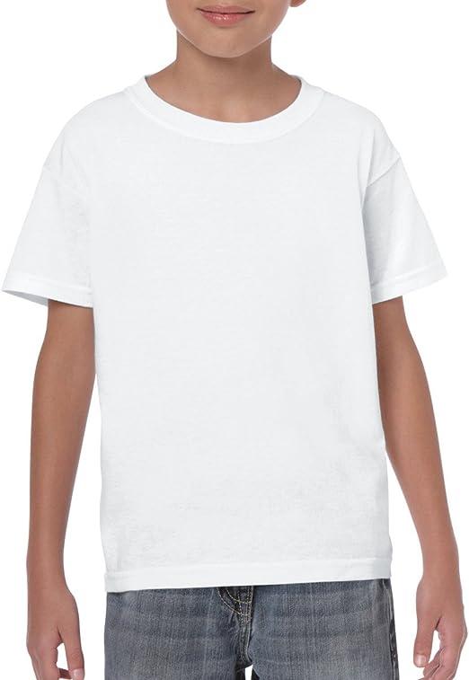 3 Pack Gildan Heavy Cotton Plain Childrens Boys T Shirts Girls School Wholesale