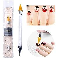 Niome 1pcs 2-way Dual-ended Nail Dotting Pen Rhinestone Studs Picker Wax Pencil Manicure Nail Art Tool