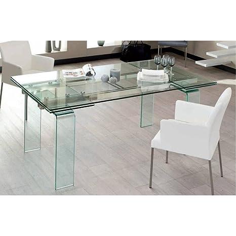 Tavolo Design allungabile Vitro 160 cm: Amazon.it: Casa e cucina