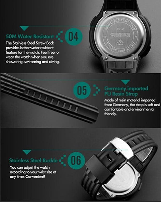 2aa4749f2b Timever(タイムエバー)デジタル腕時計 メンズ 防水腕時計 led watch スポーツウォッチ アラーム ストップ