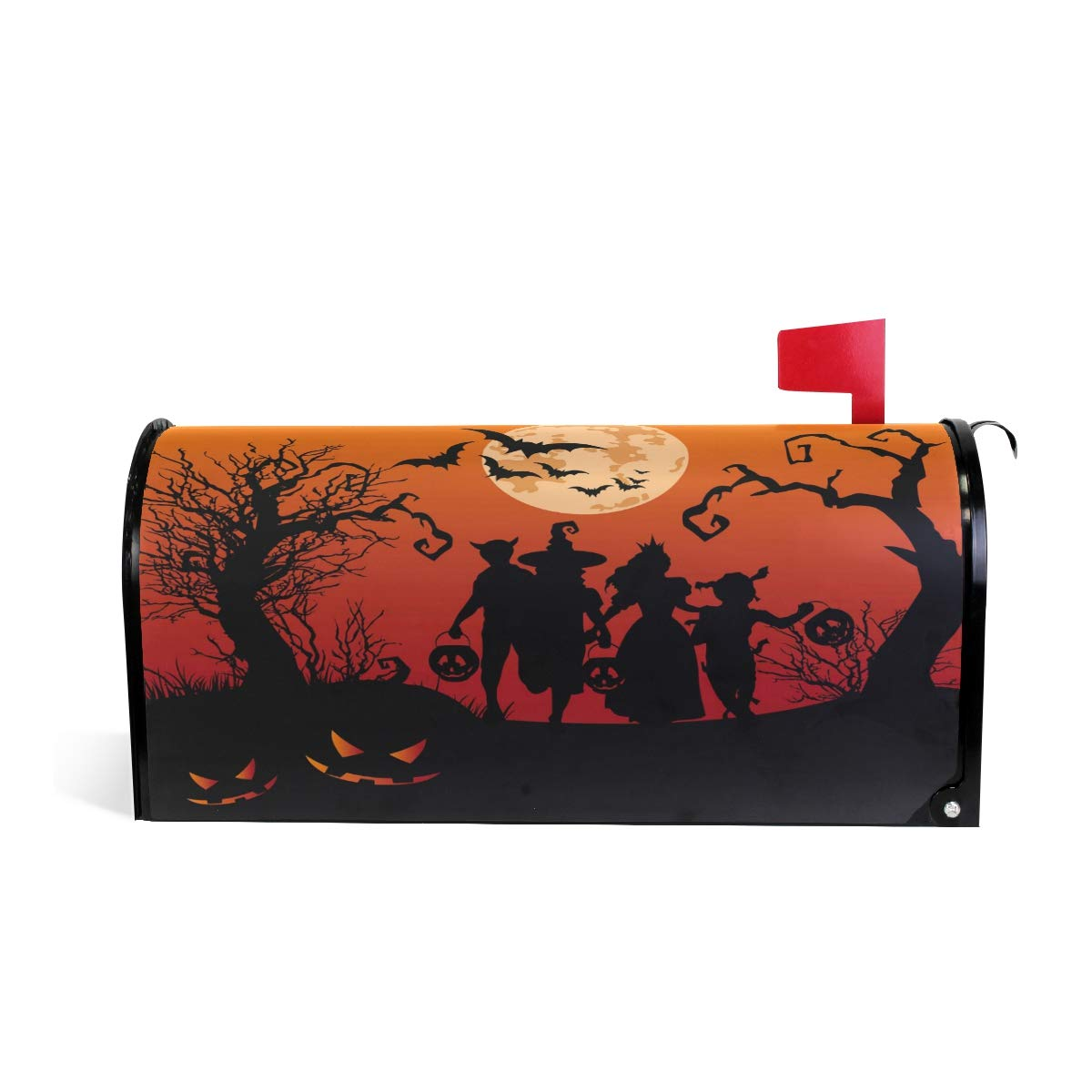 """Naanle Winter Holiday Magnetic Mailbox Cover, Halloween Mailbox Wrap Home Decorative for Standard Size 20.8""""(L) x 18""""(W) by Naanle"""