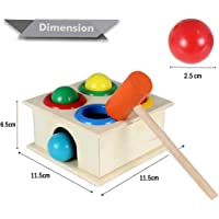 BAYBEE Wooden Hammer Case Toy For Kids (30 x 1.5 x 22 CM)