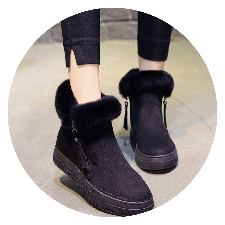 New-Loft Snow Boots Short Boots Arrival Women Ankle Boots Women Shoes Zipper Cotton Flats Boots F498