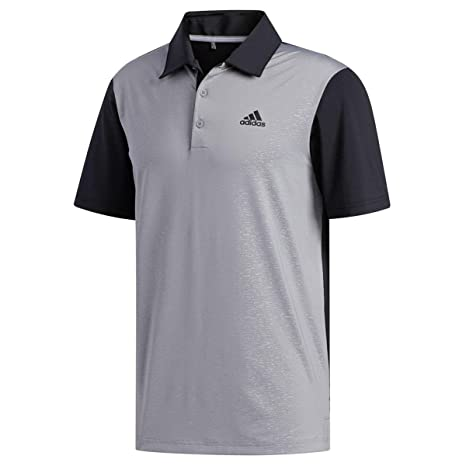 2d9c985004 adidas Golf 2019 Mens Ultimate 2.0 Novelty Short Sleeve Golf Polo Shirt  Black/Grey Three