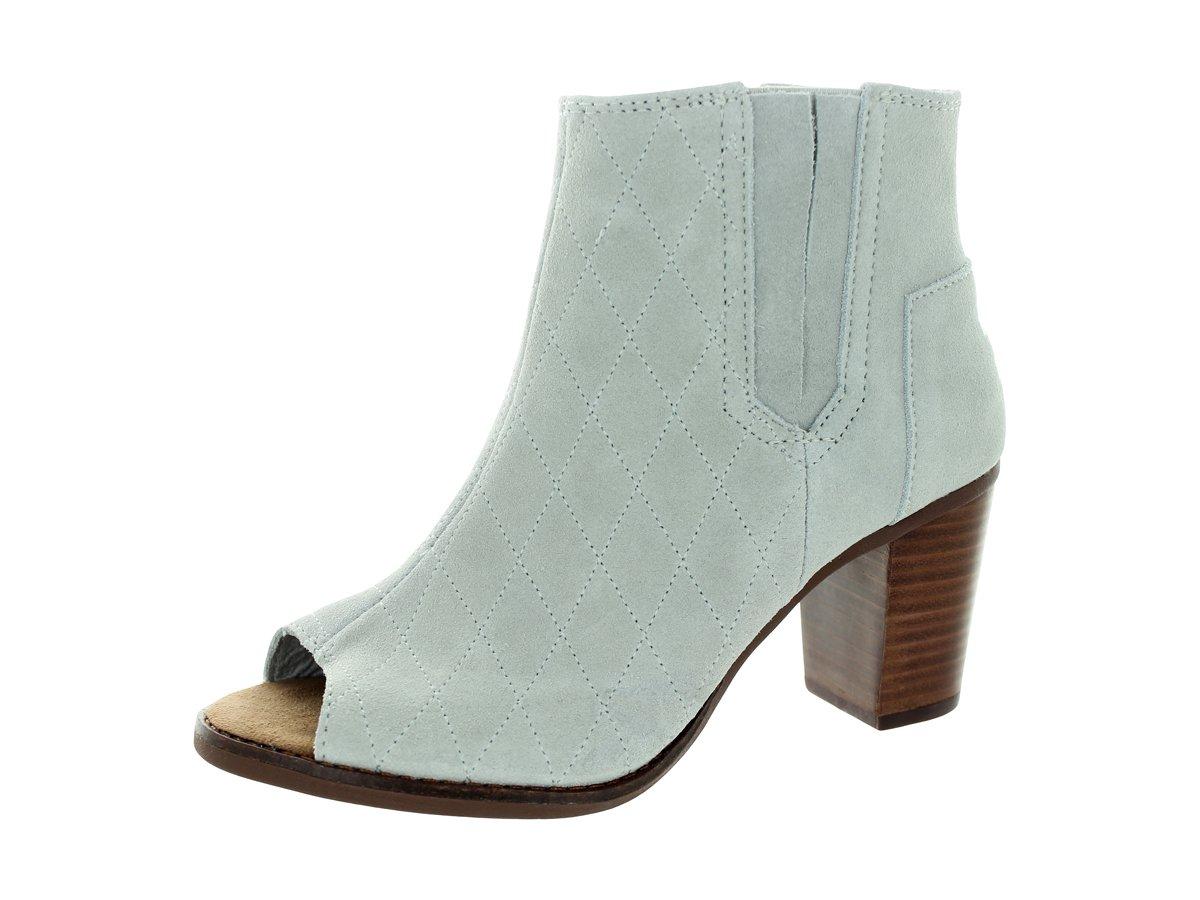 Toms Women's Majorca Peep Toe Bootie High Rise Grey Casual Shoe (6)