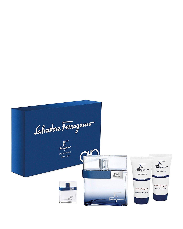 Salvatore Ferragamo Pour Homme Free Time Set, 3.3 Fluid Ounce