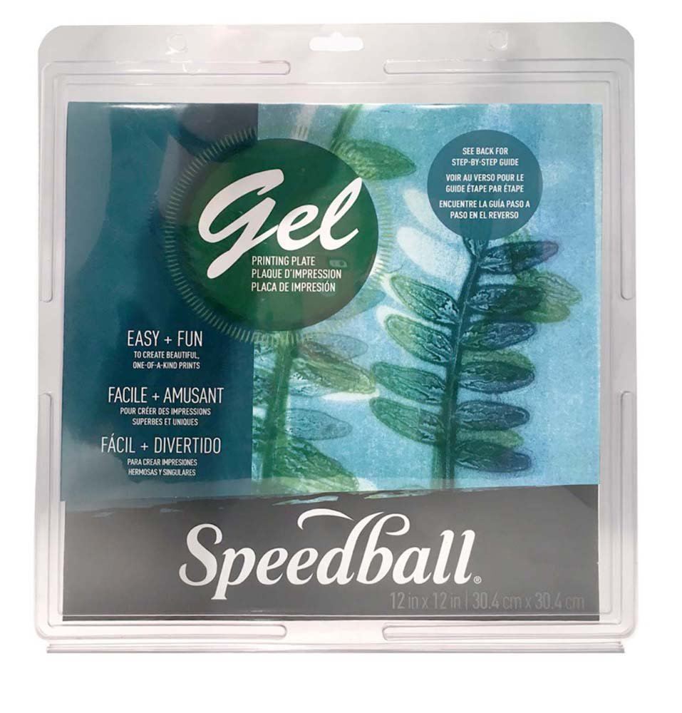 Speedball 8 X 10 Gel Printing Plate Clear 8 x 10