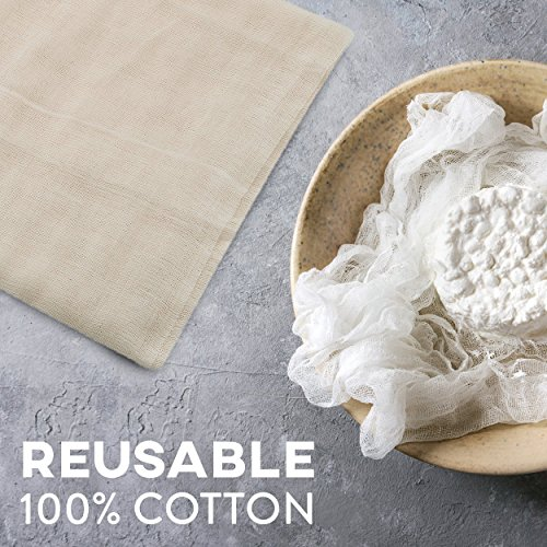 Cheesecloth and Cooking Twine - by Kitchen Gizmo, Grade 50 100% Unbleached Cotton (5 Yards/45 Sq. Feet) Cheese Cloth for Straining with 220 Ft Butchers Twine by Kitchen Gizmo (Image #4)'