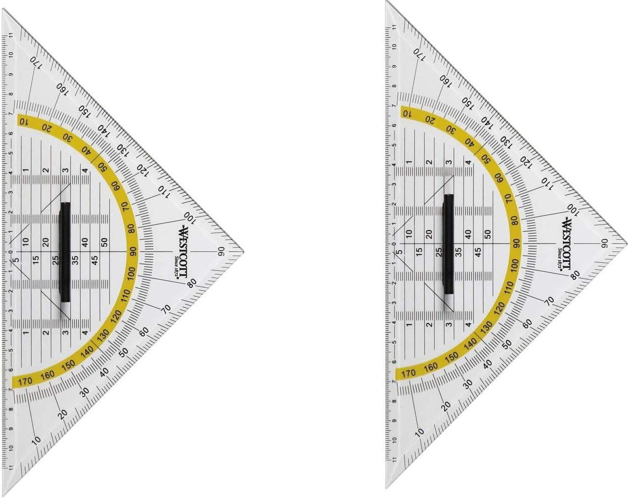 Geometrie-Dreieck groß 25 x 12,5cm mit Griff Westcott E-10134 BP