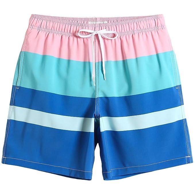 90a3680e2b5e MaaMgic Mens Quick Dry Solid 4 Way Stretch Swim Trunks Mesh Lining Swimwear  Bathing Suits 281118513