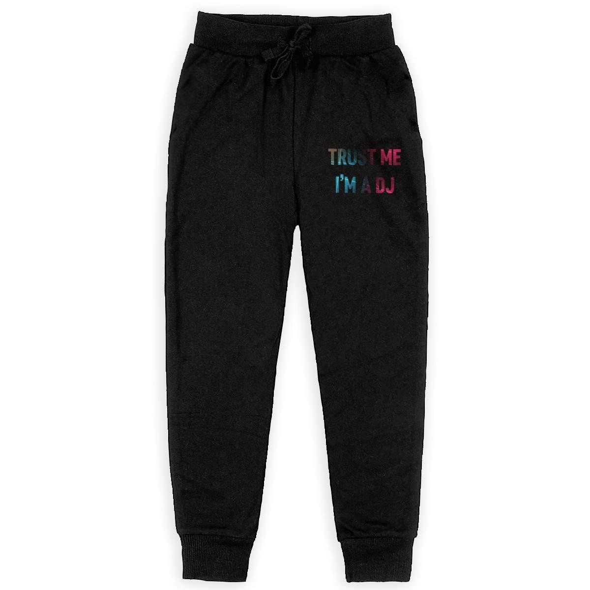 Dunpaiaa Trust Me Im The DJ Boys Sweatpants,Joggers Sport Training Pants Trousers Black