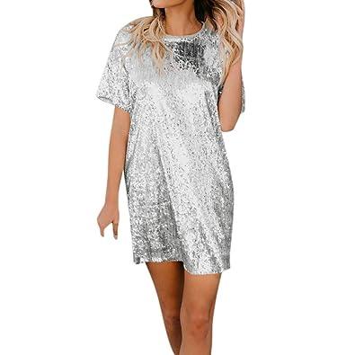 on sale 2e016 3f296 4 Colori Elegante Vestito Lustrini Cerimonia Vestiti da ...