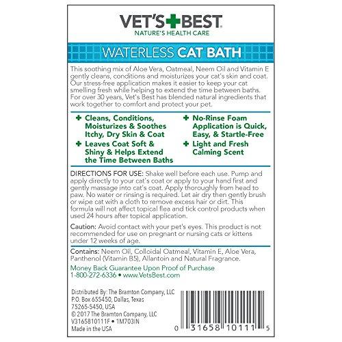 Vet S Best Dry Clean Waterless Cat Bath