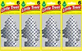 Little Trees Pure Steel Air Freshener, (Pack of 24)