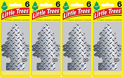 little-trees-pure-steel-air-freshener-pack-of-24