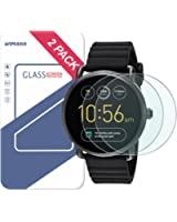 Fossil Q Wander Gen 2 Screen Protector, Wimaha 2 Pack Tempered Glass Screen Protector for Fossil Q Wander 2nd Generation Ultra Clear Scratch Resistant