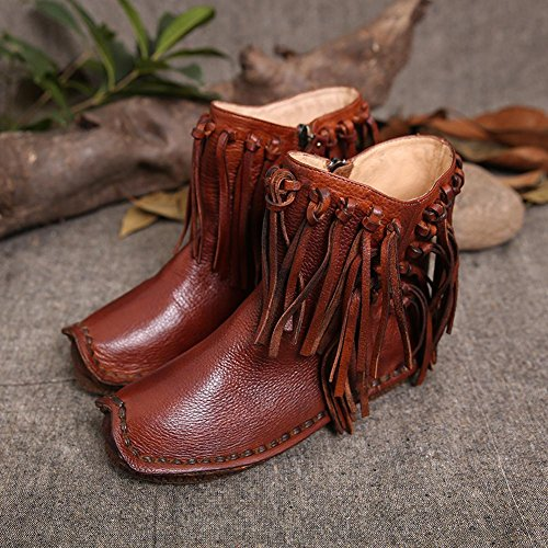 L@YC Women Boots PU autumn and Winter Retro Boots Leather Leather Outdoor / Office & Professional / Leisure Brown DiLvt