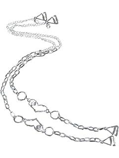 TreasureBay O cama de matrimonio Metal tirantes de sujetador decorativo una fila cadena detalles con corazón