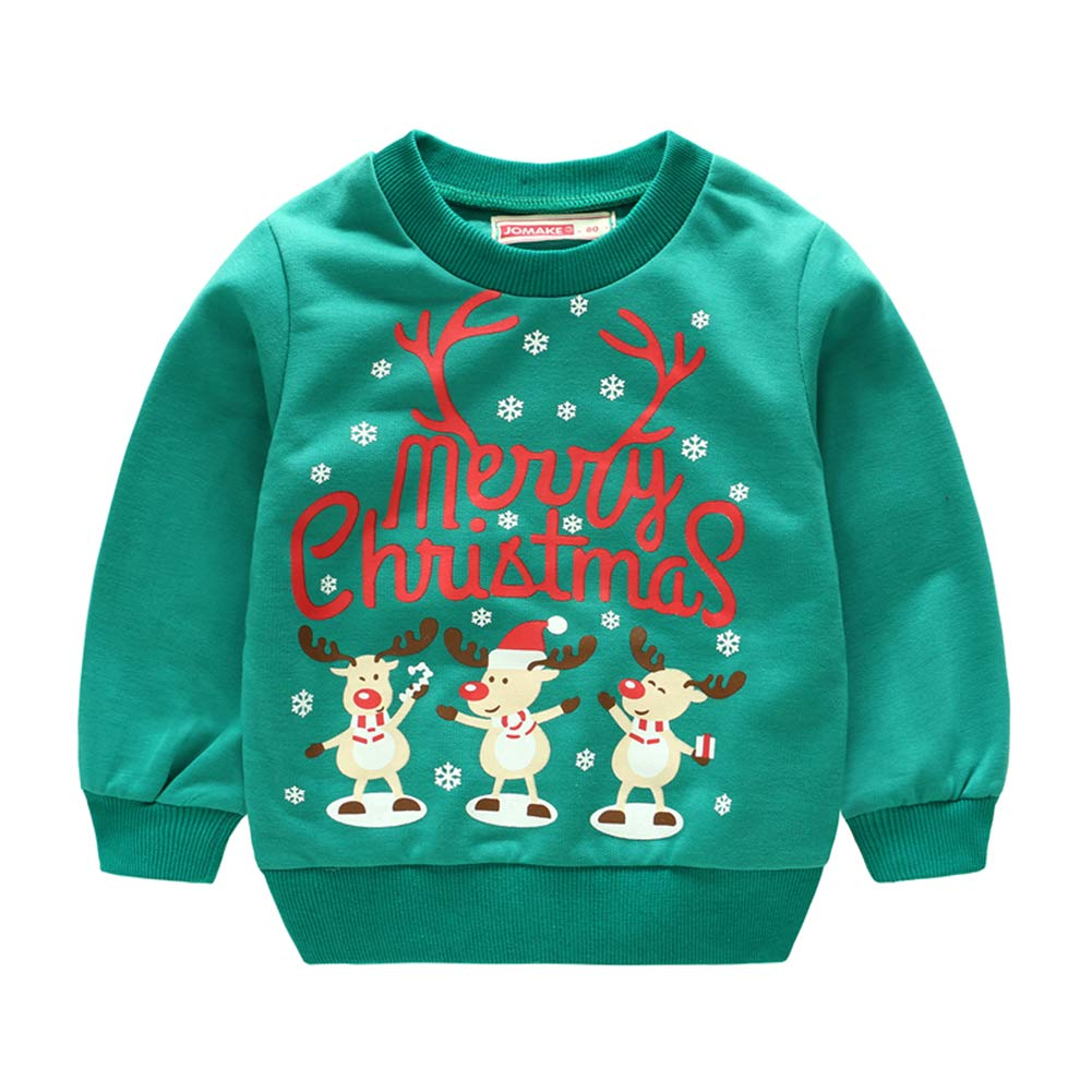 Jomake Baby Girls Pullover Sweaters Long Sleeve Sweatshirts with Round Neck for Fall /& Winter