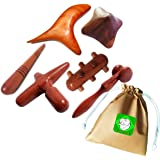 Lungcha Traditional Thai Massage Wooden Stick Tool, Reflexology, Acupuncture Point Gua Sha for Body, Foot, Hand, Head…
