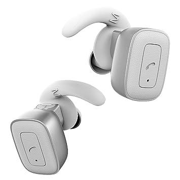 ... Auriculares Resistentes inalámbrico en Auriculares estéreo con cancelación de Ruido Auriculares con micrófono para iPhone Samsung,Plata: Amazon.es: ...