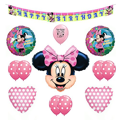 Minnie Mouse Happy Birthday Balloon Decorating - Three Sunglasses Dot