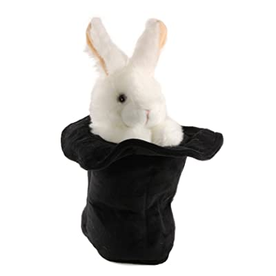 Folkmanis Rabbit in A Hat Hand Puppet - F1040 B404: Toys & Games