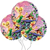 Disney's Tinkerbell Happy Birthday 18' Round Mylar Balloon 3pk