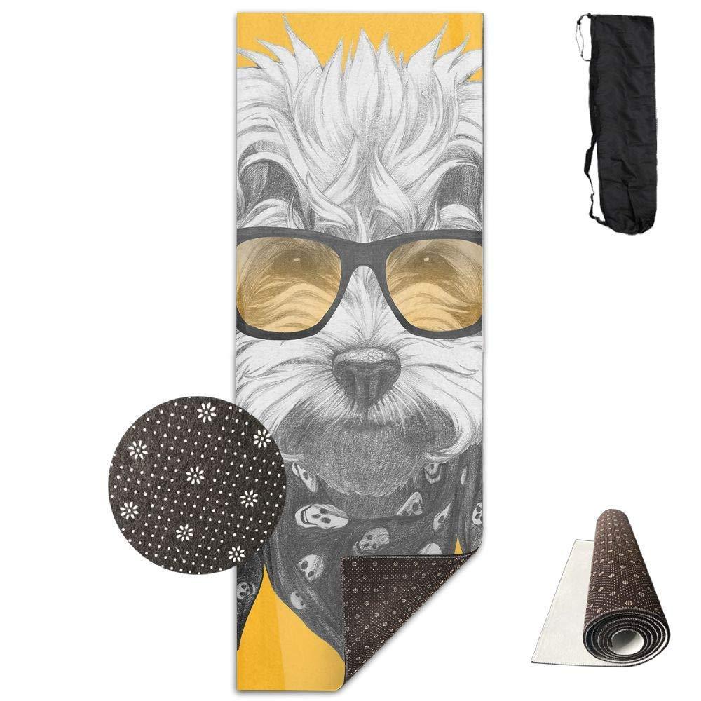 Vercxy - Esterilla de Yoga para Perro maltés con Gafas de ...