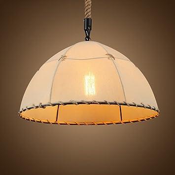 MMM  Industrieller Art Tuch Lampen Körper Gewebe Lampenschirm E27  Kronleuchter