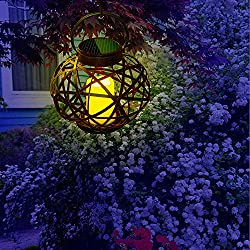 Solar Outdoor Hanging Lantern Vintage Flameless Ca