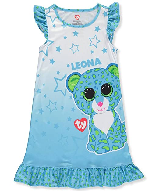 Amazon.com  TY Beanie Boo  Leona  Ruffle Pajama Nightgown Sleepshirt ... 8d584d99e95