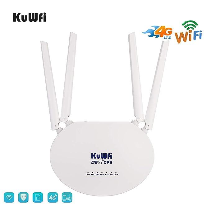 KuWFi 300Mbps Desbloqueado 4G LTE CPE Router con Ranura para ...