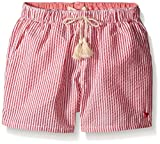 Pink Chicken Camp Shorts (Toddler/Kid) - Red/White Stripe-3 Years