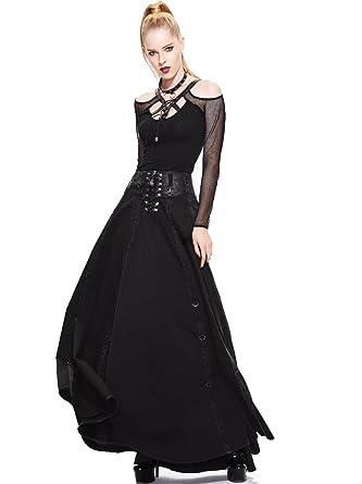 Gothic Damen Mode Schwarz Victorian Rock Kleid Steampunk Frauen ...
