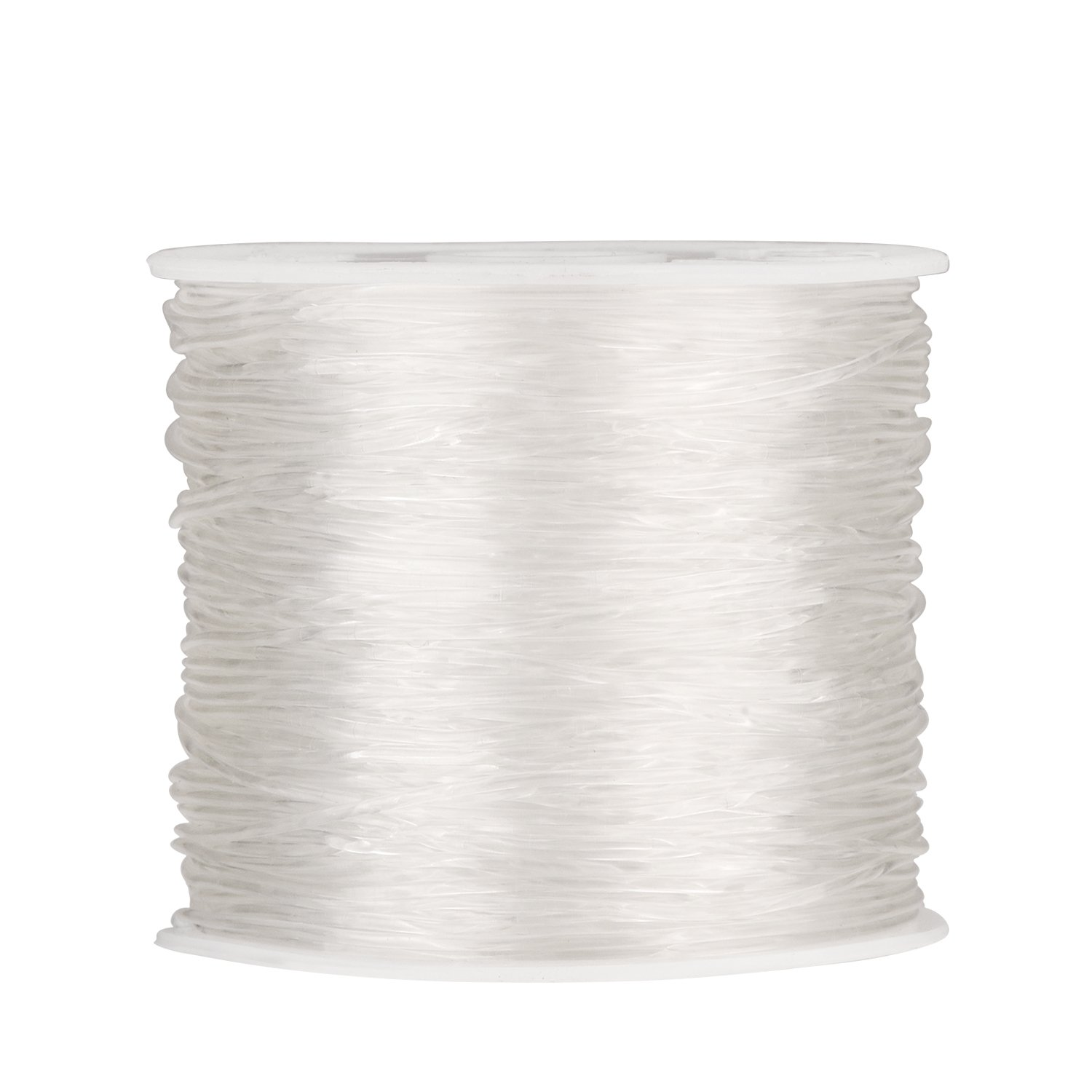 1 mm Elastic Stretch Beading Thread Craft Jewelry Bracelet Making Cord String, 90 m, Clear Outus