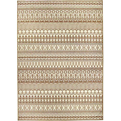 RUGGABLE Washable Stain Resistant Indoor/Outdoor, Kids, Pets, and Dog Friendly Area Rug 5'x7' Cadiz Natural