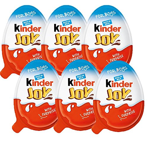 Chocolate Kinder Joy for Boys with Surprise Inside (6-Pack)